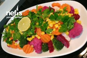 Renkli Ağaç Dalları Salatası (Karnabahar Ve Brokoli) Tarifi