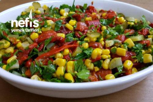Közlenmiş Kırmızı Biber Salatası Nefis Yemek Tarifleri 5361022