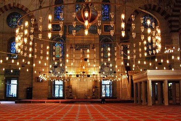 süleymaniye camii içi