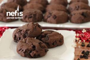 Az Malzemeli Bol Çikolatalı Kurabiye Tarifi (videolu)