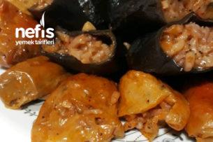 Zeytinyağlı Kuru Biber Ve Patlıcan Dolması Tarifi