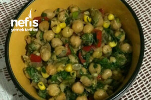 Nohut Salatası (Farklı Görünümü Ve Lezzetiyle ) Tarifi