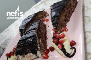 Bisküvili 5 Dakika Pastası (Ganajlı Ve Çok Lezzetli) Tarifi