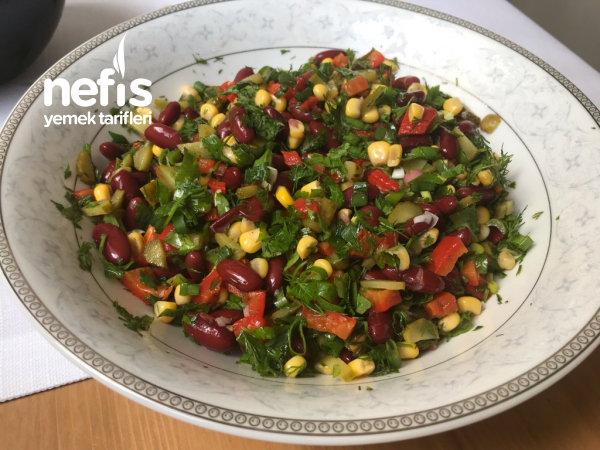 Meksika Fasulye Salatası