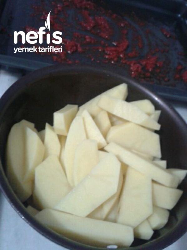 Fırında Tavuklu Patates
