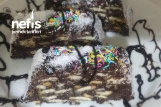 Bayat Kekli Bisküvili Mozaik Pasta Tarifi
