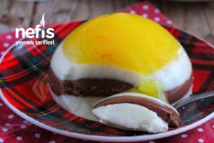 Doğal Portakal Jöleli Sütlü Çikolatalı Kat Kat Muhallebi Tarifi