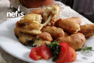 Peynir Dolgulu Hamur Kızartması (Akşam Yoğur Sonra Pişir Yağ Çekmez) Tarifi