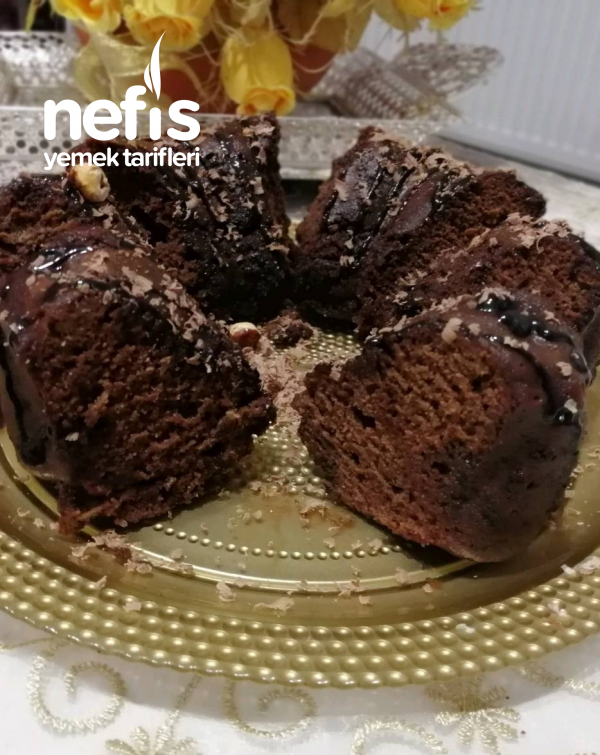 Tencerede Kakaolu Islak Kek(nescafeli, Bol Soslu)