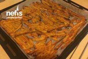 Fırında Mısır Unlu Çıtır Patates Tarifi