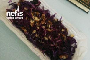 Cevizli Mor Lahana Salatası Tarifi
