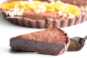 Çikolatalı Portakallı Kolay Tart (Video İle) Tarifi