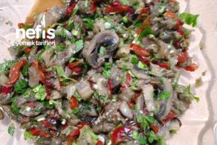 Mantarlı Patlıcan Salata Tarifi