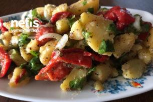 Patates Salatası (Hardallı Köz Biberli Değişik) Tarifi