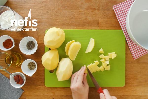 Et – Balık Yanına Fırında Kremalı Patates Tarifi (videolu)