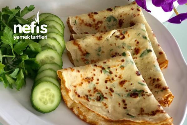 Kahvaltı Sofranızın Vazgeçilmezi Olacak Peynirli Krep Tarifi