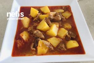 Etli Patates Yemeği (Sulusu) Tarifi