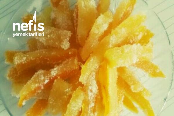Portakal Kabuğu Şekerlemesi (Ev Yapımı Jelibon) Tarifi