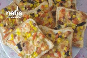 Kahvaltıya Minik Pizzalar Tarifi