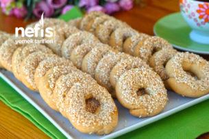 Pastane Usulü Susamlı Simit Kurabiye Tarifi (videolu)