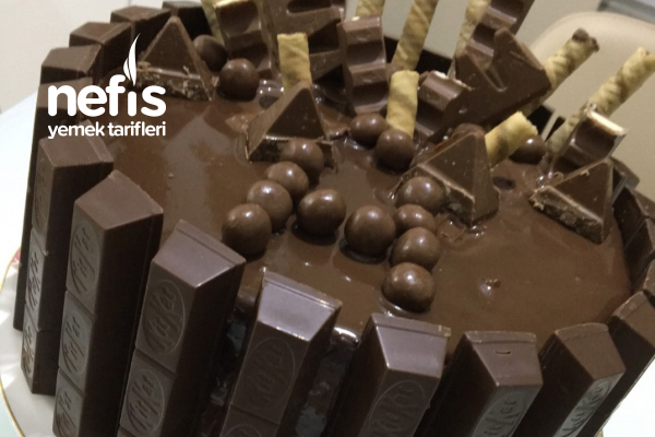 Kitkat Çitli Bol Çikolatalı Pasta Tarifi