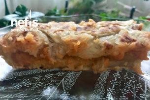 Çok Hızlı Ve Kolay Patatesli Yırtma Tava Böreği (1