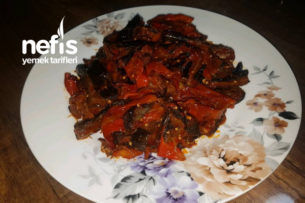 Kuru Biber Patlıcan Kavurması Tarifi