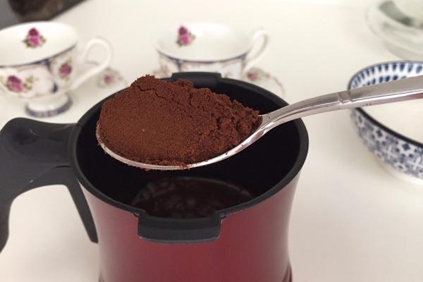 kahve telvesi peelingi