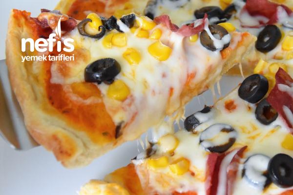 Ev Yapımı Nefis Pizza (Videolu) Tarifi