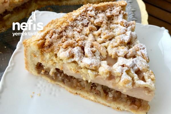 Narlı Pudingli Elmalı Pasta Tarifi