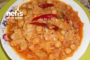Nohutlu Pirinçli Acılı Kapuska Yemeği Tarifi