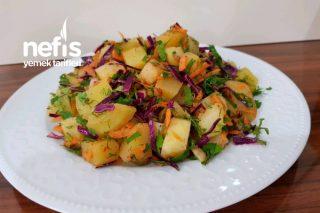 Patates Salatası (Lezzet ve Renk Cümbüşü) Tarifi