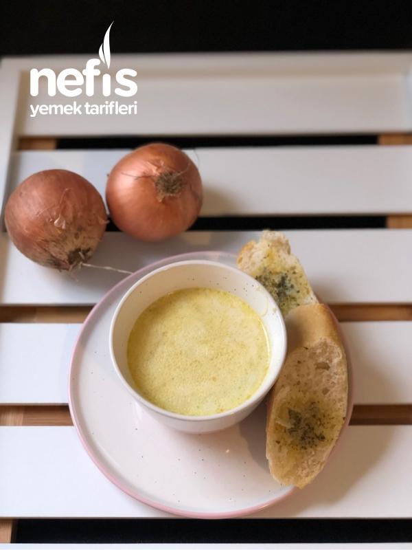 Kremalı Nefis Soğan Çorbası – Resimli Anlatım