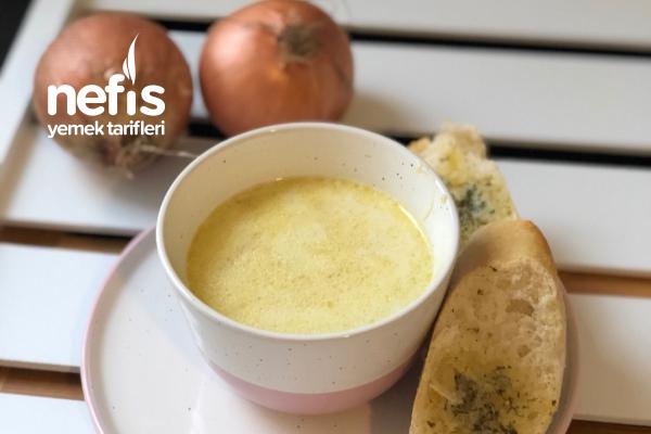 Kremalı Nefis Soğan Çorbası Resimli Anlatım