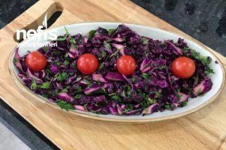 Maydanozlu Kırmızı Lahana Salatası Tarifi