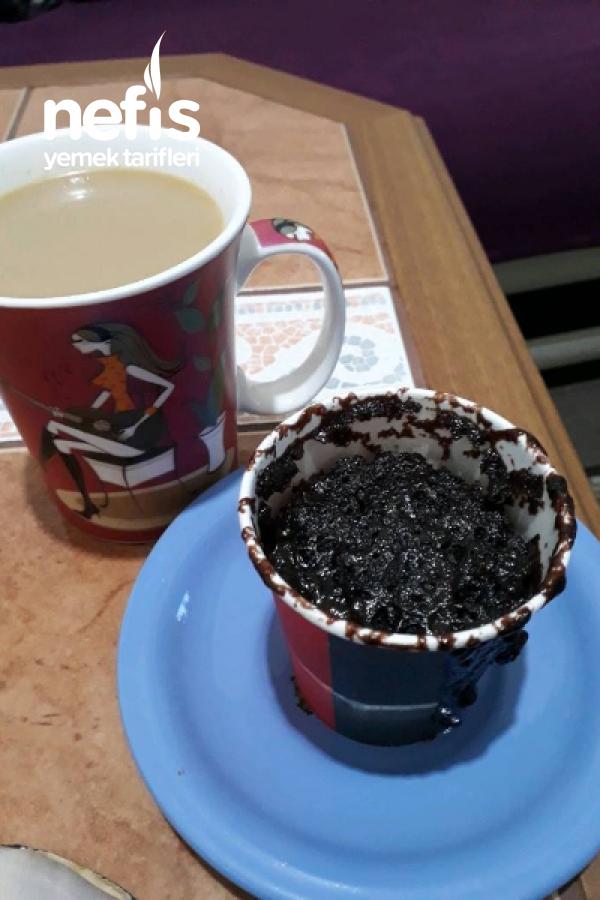 Mikrodalgada Çikolatalı Sufle