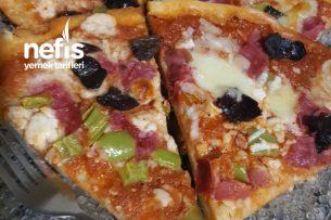 Ev Pizzası ( Pizza Tavasında) Tarifi