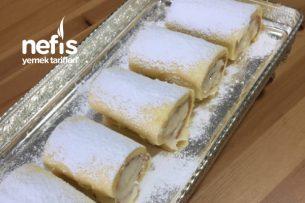 Kırılmadan Sarılabilen Muzlu Rulo Pasta Tarifi
