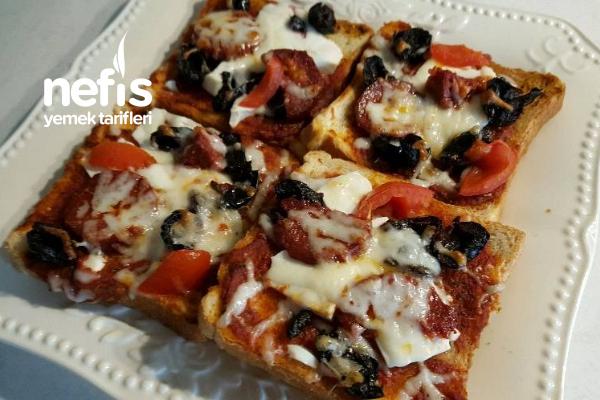 Lezzetli Ekmek Pizzası Tarifi