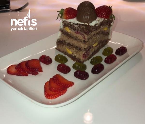 Çikolatali Frambuazlı Yaş Pasta (schoko-himbeer Torte)