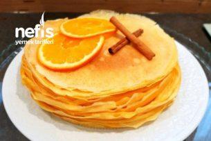 Portakal Kremalı Crepe Cake (Krep Pastası) Tarifi