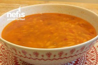 5 Dk Çorbası Kıymalı Arpa Şehriye Çorbası Tarifi