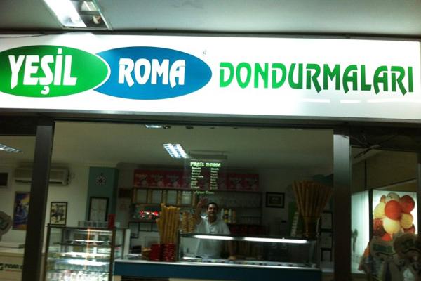 kınalıada yeşil roma dondurmacısı