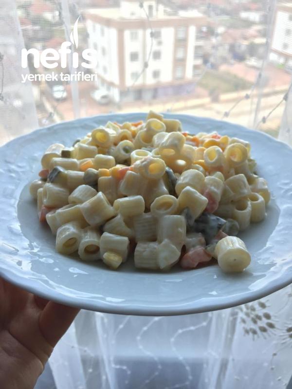Pratik Makarna Salatası(turşulu)