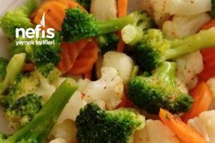 Karnabahar, Havuç Ve Brokoli Karışık Salata Tarifi