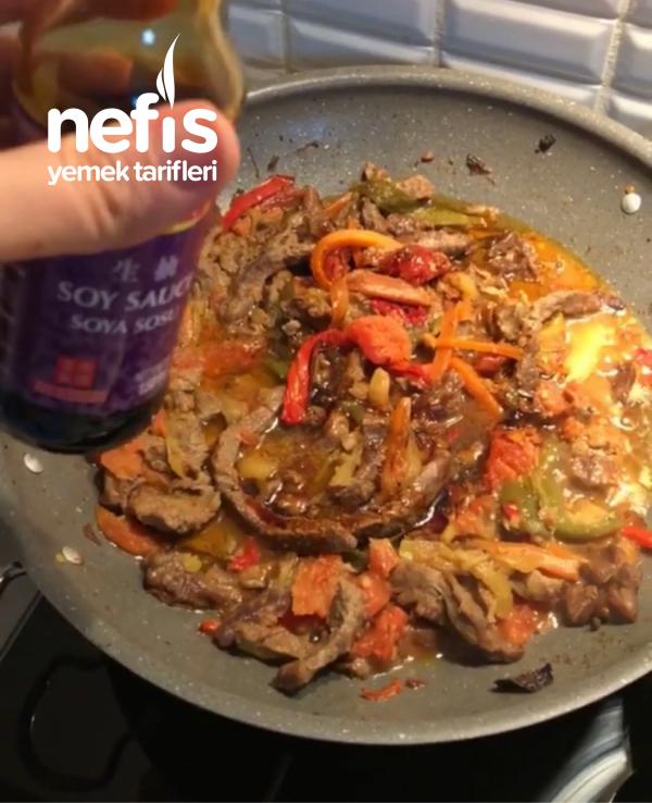 Biftek Fajita (soya Soslu)