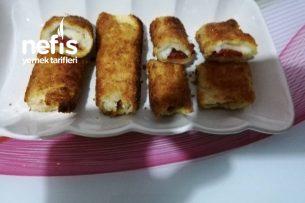 Kahvaltılık Kaşarlı, Sucuklu Ekmek Sarma Tarifi