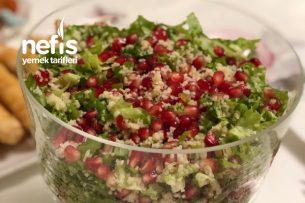 Narlı Salata  (10 Dakikada Ve Sadece 3 Malzeme Ve Çok Beğenilen Salata) Tarifi