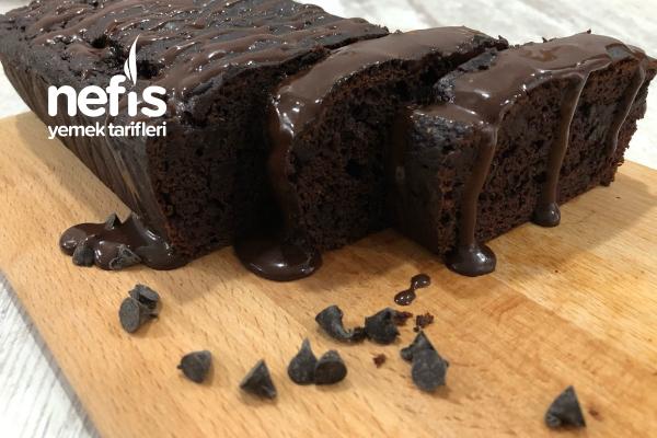 Şekersiz Yağsız Çikolatalı Muzlu Islak Kek