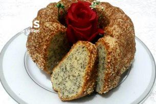 Susam Mantolu Haşhaşlı Kek (Çıtır Çıtır Bu Lezzete Bayılacaksınız) Tarifi